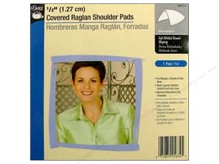 Dritz Shoulder Pads Covered Raglan 1/2&quot; White