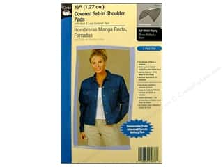 "Dritz Shoulder Pads Covered Set In 1/2"" Black"