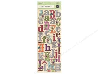 Clearance Blumenthal Favorite Findings: K&Co Adhesive Chipboard Jubilee Alphabet