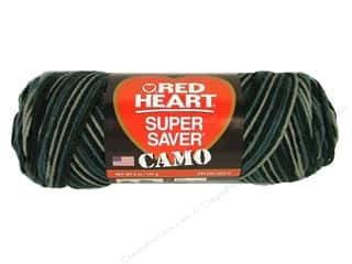 Clearance TLC Essentials Yarn: Red Heart Super Saver Yarn Urban Camo 5 oz.