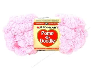 Clearance C&C TLC Essentials Yarn: Red Heart Pomp-a-Doodle Yarn Cotton Candy 3.5 oz.