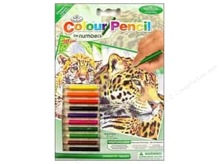 Pencils Royal Colour Pencil by Number: Royal Colour Pencil by Number Mini Jaguar