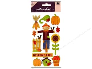 Paper Mache Fall / Thanksgiving: EK Sticko Stickers Welcome Fall