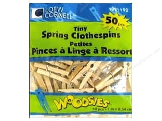 Loew Cornell Scrapbooking & Paper Crafts: Woodsies Tiny Spring Clothespins 50 pc.