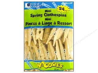 Loew Cornell Scrapbooking & Paper Crafts: Woodsies Mini Spring Clothespins 24 pc.
