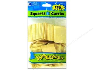 "Loew Cornell 18"": Woodsies Wood Shapes Squares 130 pc."