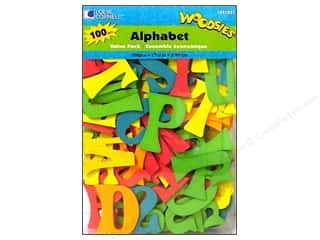 Art School & Office: Woodsies Wood Shapes Alphabet 100 pc. Colored