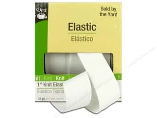Elastic Width: Knit Elastic by Dritz 1 in. White 25 yd. (25 yards)