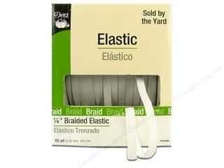 Elastic Sewing Construction: Braided Elastic by Dritz White 1/4 in x 65 yd. (65 yards)