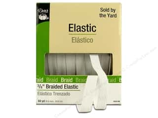 Dritz Elastic Braided 3/8&quot; White 60yd (60 yards)