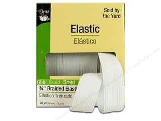 Elastic Dritz Braided Elastic: Braided Elastic by Dritz White 3/4 in x 30 yd (30 yards)