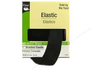 "Dritz Elastic Braided 1"" Black 20yd (20 yards)"