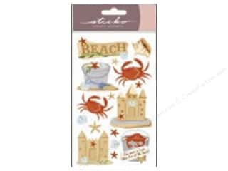 Dads & Grads Stickers: EK Sticko Stickers Vellum Beach and Crabs