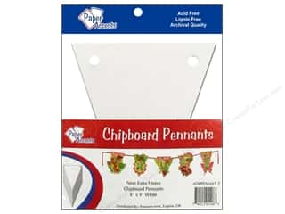 Scrapbooking $6 - $9: Paper Accents Chipboard Pennants 6 x 9 in. 9 pc. White