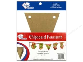 """chipboard""  4x4: Paper Accents Chip Pennant 4x6 Natural 9pc"