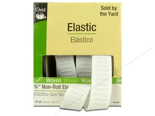 New Years Resolution Sale Elastic: Non-Roll Elastic by Dritz White 3/4 in x 18 yd (18 yards)