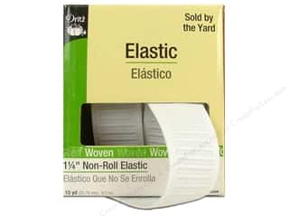 Elastic 10 Yards: Non-Roll Elastic by Dritz White 1 1/4 in x 10 yd (10 yards)