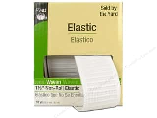 Dritz Notions Yard Sale: Non-Roll Elastic  by Dritz White 1 1/2 in x 10 yd (10 yards)