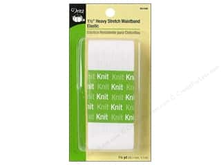 Stock Up Sale Dritz Elastic: Heavy Stretch Waistband Elastic by Dritz White