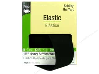 Dritz Elastic Waistband 1.5&quot; Black 15yd (15 yards)