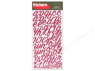 Thickers Alphabet Stickers Foam Rainboots Glitter Raspberry
