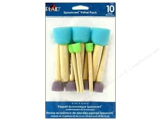 Machine Lint Brushes Sale: Plaid Paint Essentials Stencil Spouncer  Set 10pc