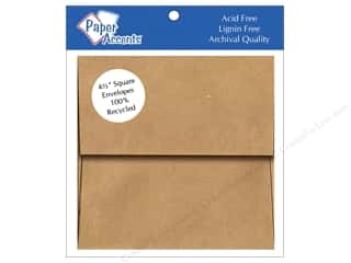 Paper Accents Brown: 4 1/2 x 4 1/2 in. Envelopes by Paper Accents 8 pc. Brown Bag - 100% Recycled paper