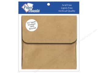 Paper Accents Brown: 5 1/2 x 5 1/2 in. Envelopes by Paper Accents 8 pc. Brown Bag - 100% Recycled paper
