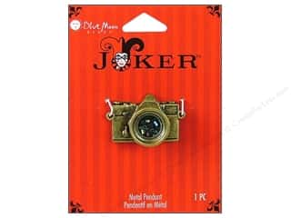 Bead Metal: Blue Moon Beads Metal Pendant Joker Oxidized Brass Metal Camera
