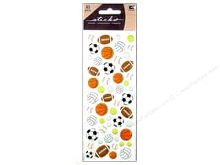 EK Success Dimensional Stickers: EK Sticko Stickers Puffy Sporty Balls