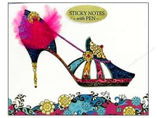 Pictura Sticky Notes w/Pen Head Heels Feather Blue