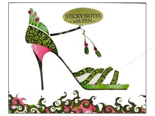 Pictura Sticky Notes w/Pen Head Heels Scroll Lime
