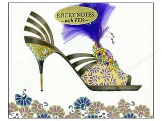 Pictura Sticky Notes w/Pen Head Heels Feather Prpl