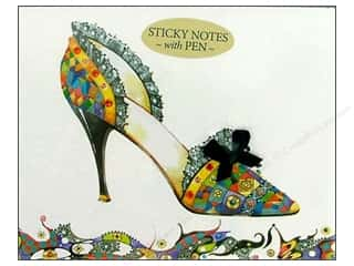 Pictura Sticky Notes w/Pen Head Heels PtchwrkMulti