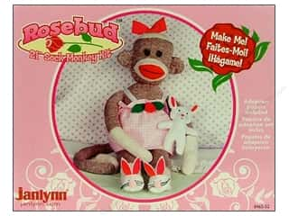 Socks: Janlynn Sock Monkey Kit 21 in. Rosebud