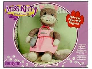 Janlynn Sock Monkey Kit 21 in. Miss Kitty