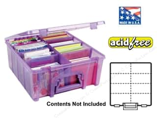 Chronicle Books $15 - $18: ArtBin Super Satchel Double Deep Translucent Purple
