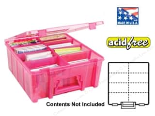 Organizers ArtBin Super Satchels: ArtBin Super Satchel Double Deep Translucent Raspberry