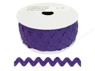 Ribbon Work Tapes: Ric Rac by Cheep Trims  11/16 in. Purple (24 yards)