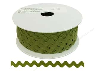 Ribbon Work Tapes: Ric Rac by Cheep Trims  1/2 in. Olive (24 yards)