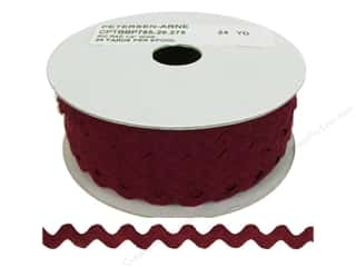 Ribbon Work Tapes: Ric Rac by Cheep Trims  1/2 in. Wine (24 yards)