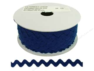 Ribbon Work Blue: Ric Rac by Cheep Trims  1/2 in. Royal (24 yards)