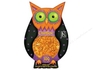 ABC & 123 Chipboard: K&Company Chipboard Tim Coffey Halloween Chipbox Alpha Owl