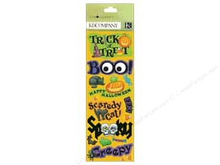 Halloween Spook-tacular paper dimensions: K & Company Adhesive Chipboard Tim Coffey Halloween