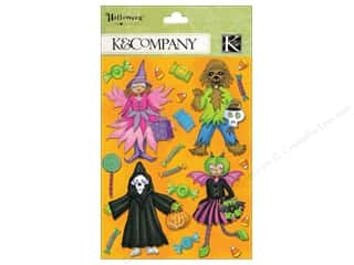 Halloween Spook-tacular paper dimensions: K&Company Grand Adhesions Tim Coffey Halloween Costume