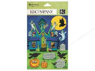 Halloween Spook-tacular paper dimensions: K&Company Grand Adhesions Tim Coffey Halloween Haunted House