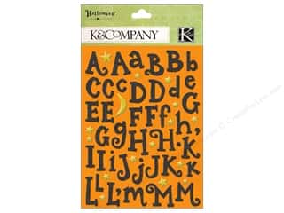 stickers  -3D -cardstock -fabric: K&Co Sticker TC Halloween Glitter Alphabet