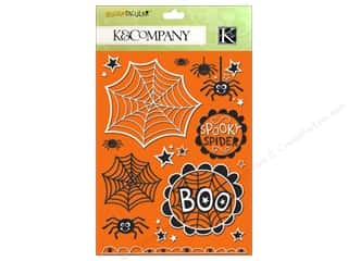 K&amp;Co Sticker Die Cut Spooktacular Glitter w/Gems