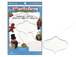 "Smoothfoam: Smoothfoam Ornament Flat Package 2.25"" White 4pc"