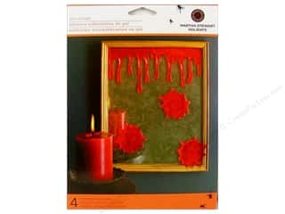 Martha Stewart Decorative Bloody Glitter Gel Cling